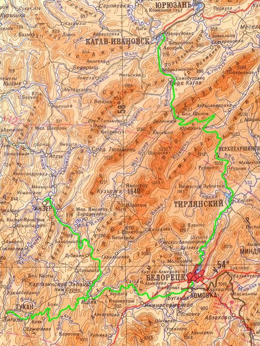 Карта начала 60 – х годов